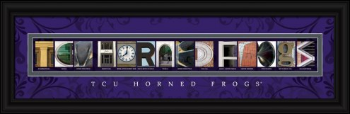 Texas Christian Horned Frogs Campus Letter Art