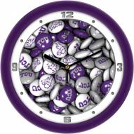 Texas Christian Horned Frogs Candy Wall Clock