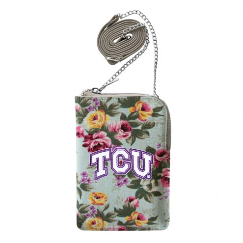 Texas Christian Horned Frogs Canvas Floral Smart Purse