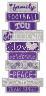 Texas Christian Horned Frogs Celebrations Stack Sign