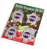 Texas Christian Horned Frogs Christmas Ornament Gift Set