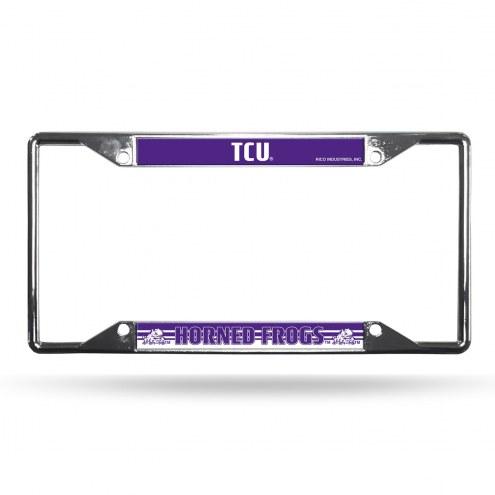 Texas Christian Horned Frogs Chrome License Plate Frame