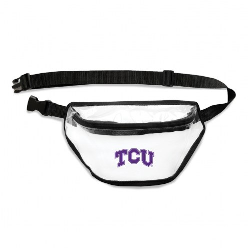 Texas Christian Horned Frogs Clear Fanny Pack