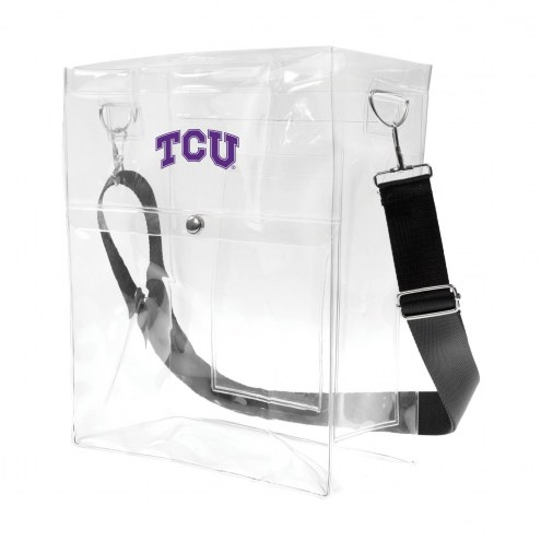 Texas Christian Horned Frogs Clear Ticket Satchel