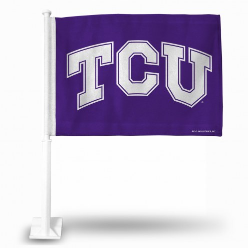 Texas Christian Horned Frogs College Car Flag