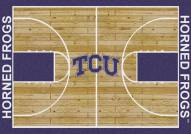 Texas Christian Horned Frogs College Home Court Area Rug