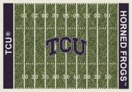 Texas Christian Horned Frogs College Home Field Area Rug