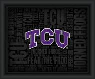 Texas Christian Horned Frogs College Word Cloud