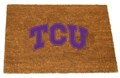 Texas Christian Horned Frogs Colored Logo Door Mat
