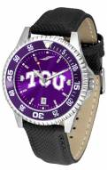 Texas Christian Horned Frogs Competitor AnoChrome Men's Watch - Color Bezel