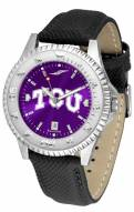 Texas Christian Horned Frogs Competitor AnoChrome Men's Watch