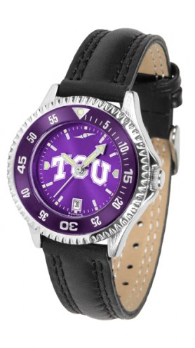 Texas Christian Horned Frogs Competitor AnoChrome Women's Watch - Color Bezel