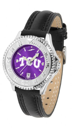 Texas Christian Horned Frogs Competitor AnoChrome Women's Watch
