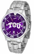 Texas Christian Horned Frogs Competitor Steel AnoChrome Color Bezel Men's Watch