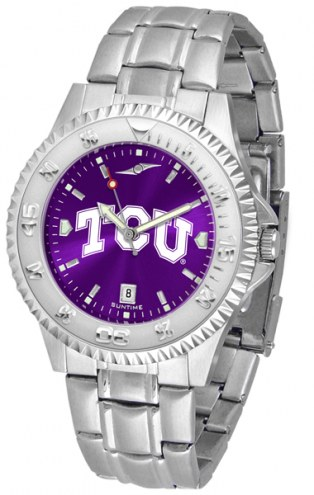 Texas Christian Horned Frogs Competitor Steel AnoChrome Men's Watch