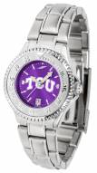 Texas Christian Horned Frogs Competitor Steel AnoChrome Women's Watch