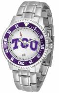 Texas Christian Horned Frogs Competitor Steel Men's Watch