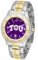 Texas Christian Horned Frogs Competitor Two-Tone AnoChrome Men's Watch