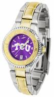 Texas Christian Horned Frogs Competitor Two-Tone AnoChrome Women's Watch