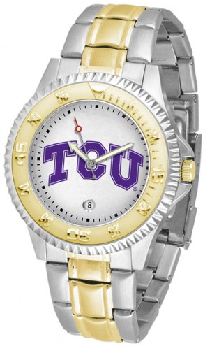 Texas Christian Horned Frogs Competitor Two-Tone Men's Watch