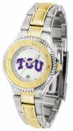 Texas Christian Horned Frogs Competitor Two-Tone Women's Watch