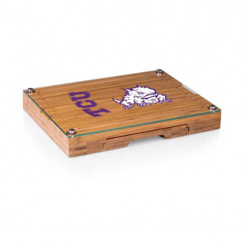 Texas Christian Horned Frogs Concerto Bamboo Cutting Board
