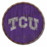 "Texas Christian Horned Frogs Cracked Color 24"" Barrel Top"