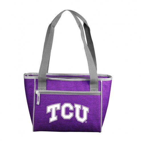Texas Christian Horned Frogs Crosshatch 16 Can Cooler Tote