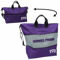 Texas Christian Horned Frogs Crosshatch Expandable Tote