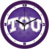 Texas Christian Horned Frogs Dimension Wall Clock