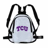 Texas Christian Horned Frogs Dog Mini Backpack