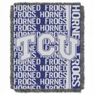 Texas Christian Horned Frogs Double Play Woven Throw Blanket