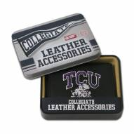 Texas Christian Horned Frogs Embroidered Leather Tri-Fold Wallet