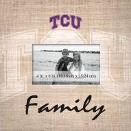 Texas Christian Horned Frogs Family Picture Frame