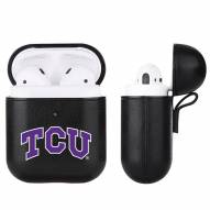 Texas Christian Horned Frogs Fan Brander Apple Air Pods Leather Case
