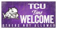 Texas Christian Horned Frogs Fans Welcome Sign