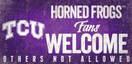 Texas Christian Horned Frogs Fans Welcome Wood Sign