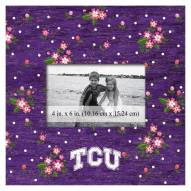 "Texas Christian Horned Frogs Floral 10"" x 10"" Picture Frame"