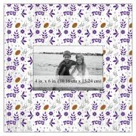 "Texas Christian Horned Frogs Floral Pattern 10"" x 10"" Picture Frame"