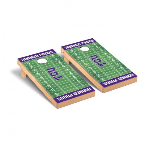 Texas Christian Horned Frogs Football Field Cornhole Game Set
