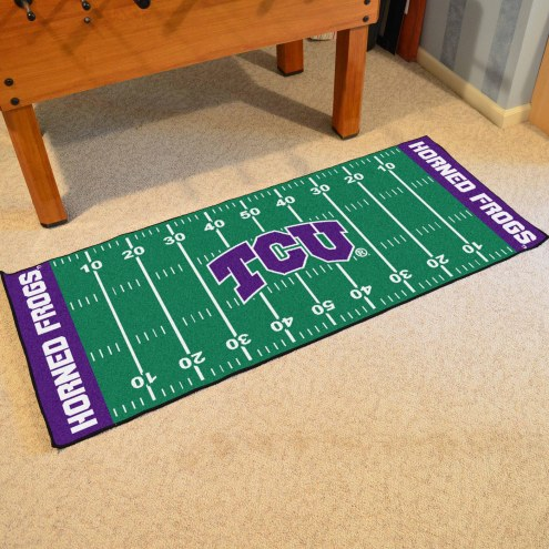 Texas Christian Horned Frogs Football Field Runner Rug