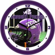Texas Christian Horned Frogs Football Helmet Wall Clock