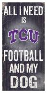 Texas Christian Horned Frogs Football & My Dog Sign