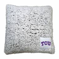 Texas Christian Horned Frogs Frosty Throw Pillow