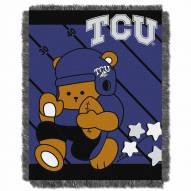 Texas Christian Horned Frogs Fullback Baby Blanket