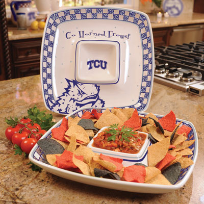 Texas Christian Horned Frogs Gameday Chip N Dip Dish