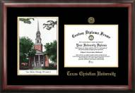Texas Christian Horned Frogs Gold Embossed Diploma Frame with Lithograph