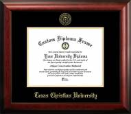 Texas Christian Horned Frogs Gold Embossed Diploma Frame