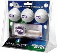 Texas Christian Horned Frogs Golf Ball Gift Pack with Kool Tool