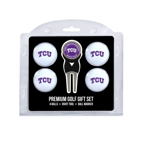 Texas Christian Horned Frogs Golf Ball Gift Set
